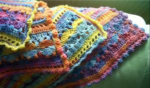 Crochet baby blanket edge