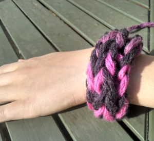 Finger knitted Wristband
