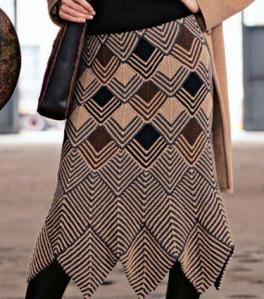 mitred skirt