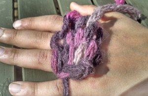 The purl side (photo 9)