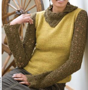 Knit+Crochet turtleneck