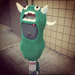 parking meter yarnbombo