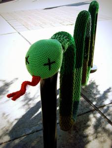 Yarnbomb snake