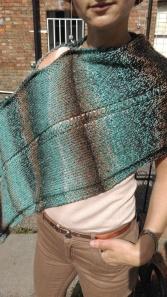 Asymmetric scarf look