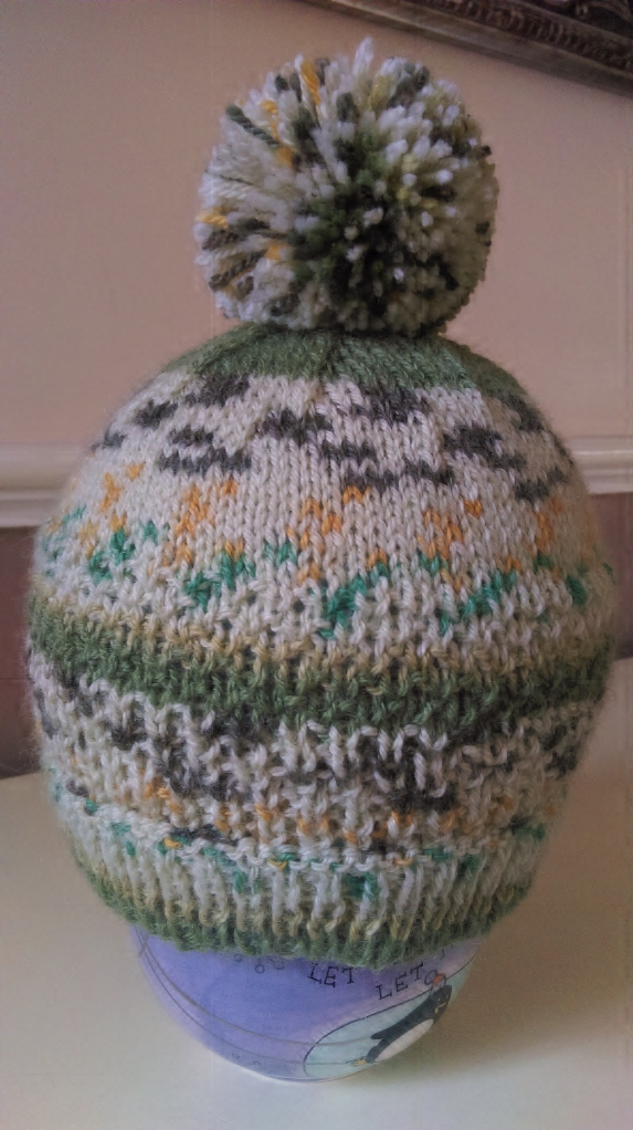 Knitted Pompom hat