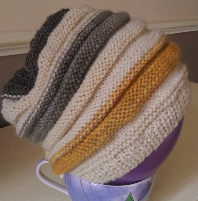 Knitted beehive hat