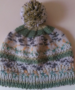 Finished pompom hat