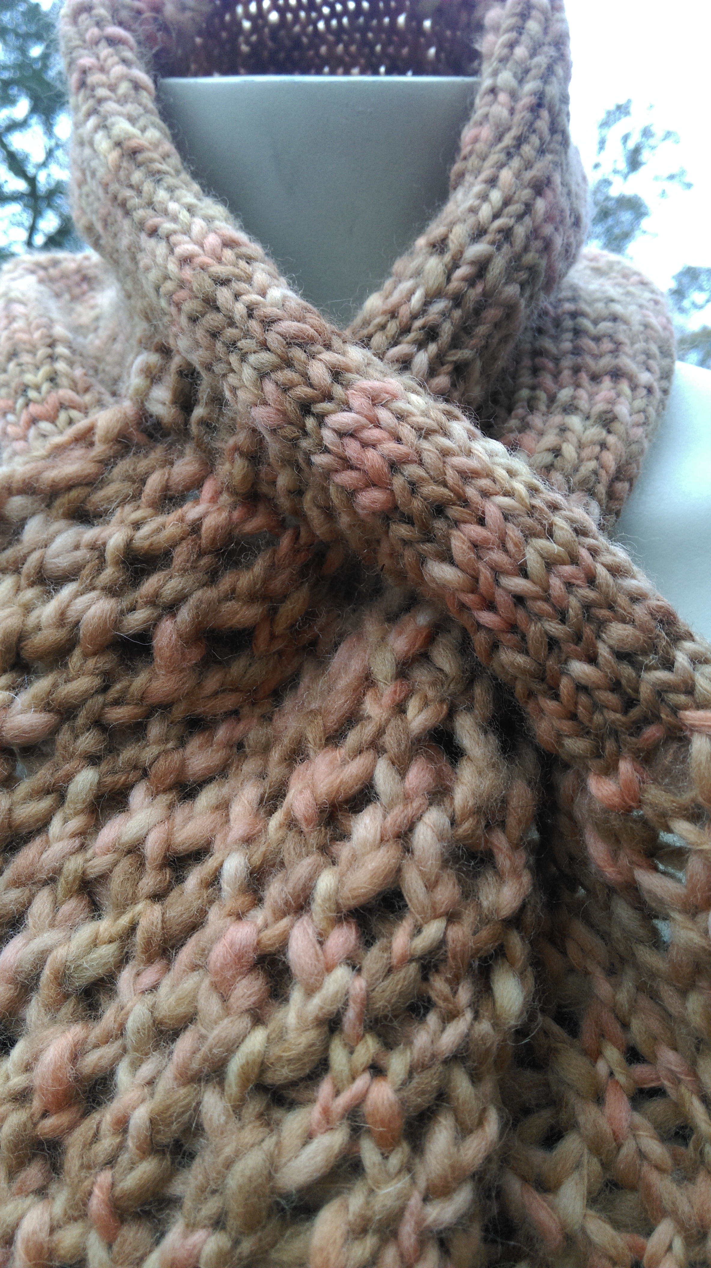 Loom Knitting Lace Pattern : Lacy Scarf for Knitting Looms   a pattern