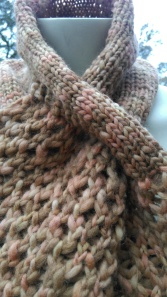 Finished lace loom scarf