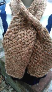 Lacy loom scarf