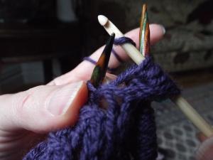 Wrap yarn over hook