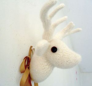 knitted reindeer