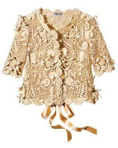 Oscar de la Renta crochet jacket - too beautiful to take off