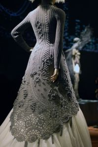 Jean Paul Gaultier gown - this has almost all the techniques of knitting and crochet included
