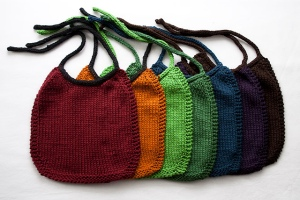 I love these colourful bibs and you can embroider on them too.