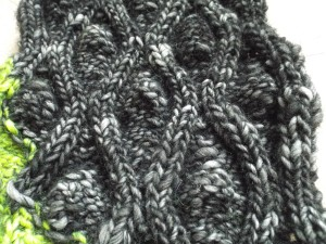 Reverse of scarf