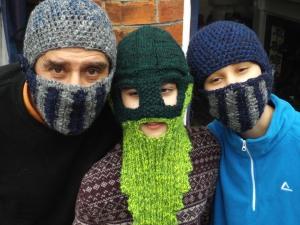 Family of Ski Masks