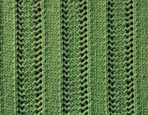 Raised knit rib