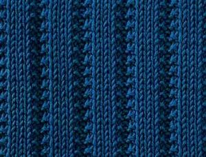 Rib with garter stitch borders