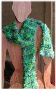 Eyelash yarn scarf from www.straw.com
